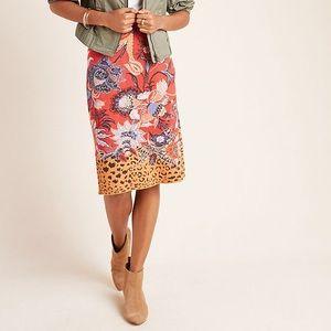 Maeve Anthropologie Delphinia Knit Sweater Skirt